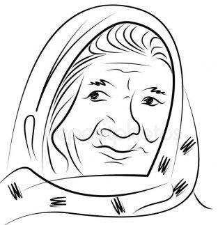 Это изображение имеет пустой атрибут alt; его имя файла - depositphotos_208419780-stock-illustration-portrait-elderly-woman-scarf-hand.jpg